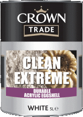 Clean Extreme durable Acrylic Eggshell Crown Paint