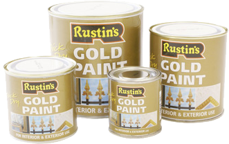 QUICK-DRYING GOLD PAINT