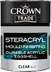Mould Inhibiting durable Acrylic Eggshell Crown Paint